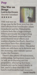 The War On Drugs - Evening Standard - 14.03.14