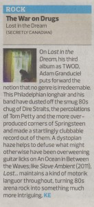 The War On Drugs - The Observer - 16.03.14