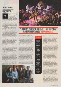 The War On Drugs - Q (live review p2) - May 2014